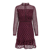 Hollow Out Girly Lace Dress - MaestosoRosso_Fashion_Store