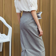 Pearl Pleated Midi Skirt - MaestosoRosso_Fashion_Store