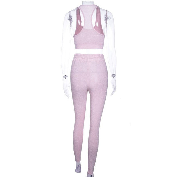 Muted Pink 2 Piece Tracksuit - MaestosoRosso_Fashion_Store