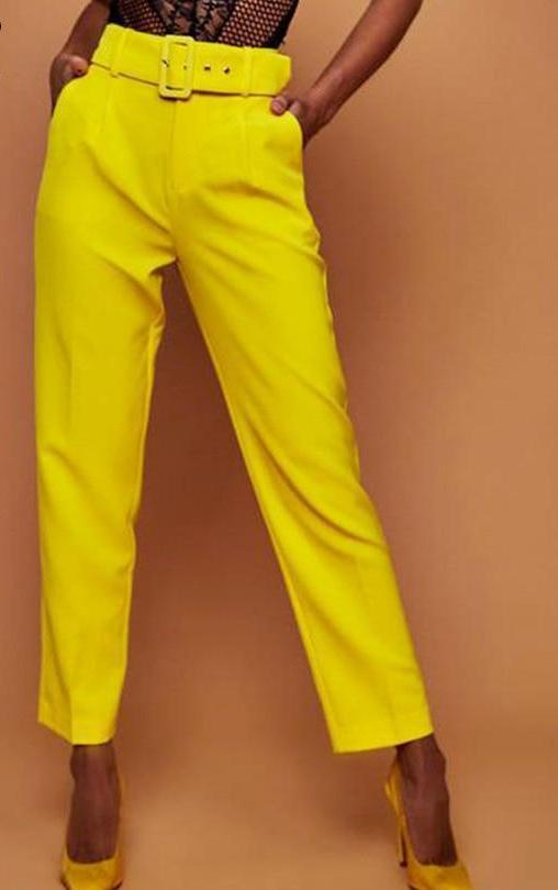 Casual High Waisted Trousers - MaestosoRosso_Fashion_Store