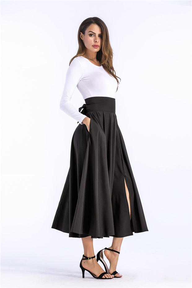 Back Bow Maxi Vintage Skirt - MaestosoRosso_Fashion_Store