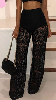 High Waist Lace Pants - MaestosoRosso_Fashion_Store
