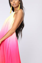 Backless Gradient Maxi Dress - MaestosoRosso_Fashion_Store