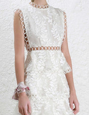 Layered Long Lace Dress - MaestosoRosso_Fashion_Store