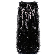 Elastic Sequin Tassel Skirt - MaestosoRosso_Fashion_Store