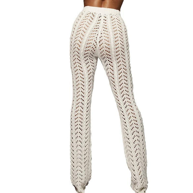 Hollow Out Knitted Pants - MaestosoRosso_Fashion_Store