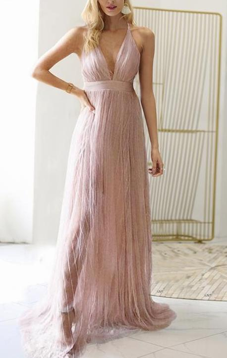 Fairy Mesh Rose Pink Dress - MaestosoRosso_Fashion_Store