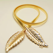 Leaf Shape Metal Belt - MaestosoRosso_Fashion_Store