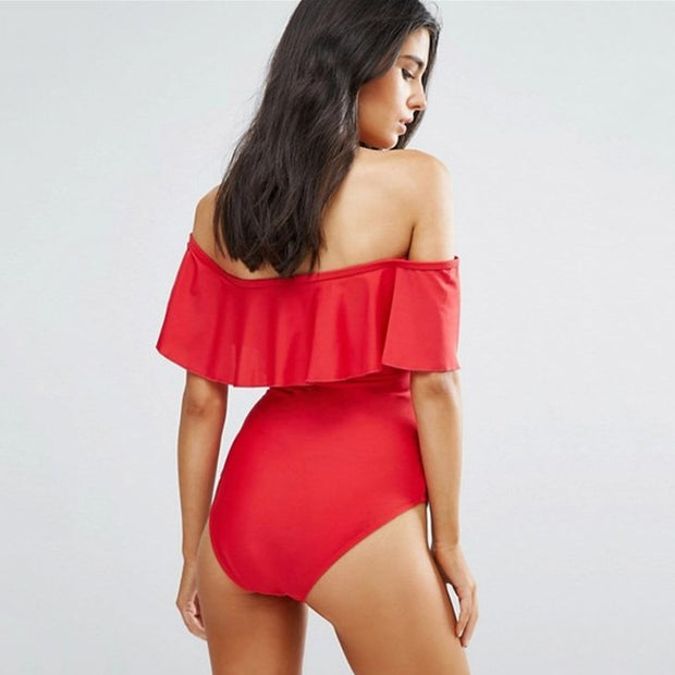 One Piece Large Ruffle Swimsuit/ Bodysuit (Various Designs) - MaestosoRosso_Fashion_Store