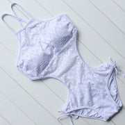 Lace One Piece Swimsuit - MaestosoRosso_Fashion_Store