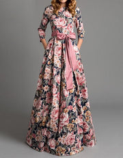 Floral Bohemian Bow Maxi Dress - MaestosoRosso_Fashion_Store