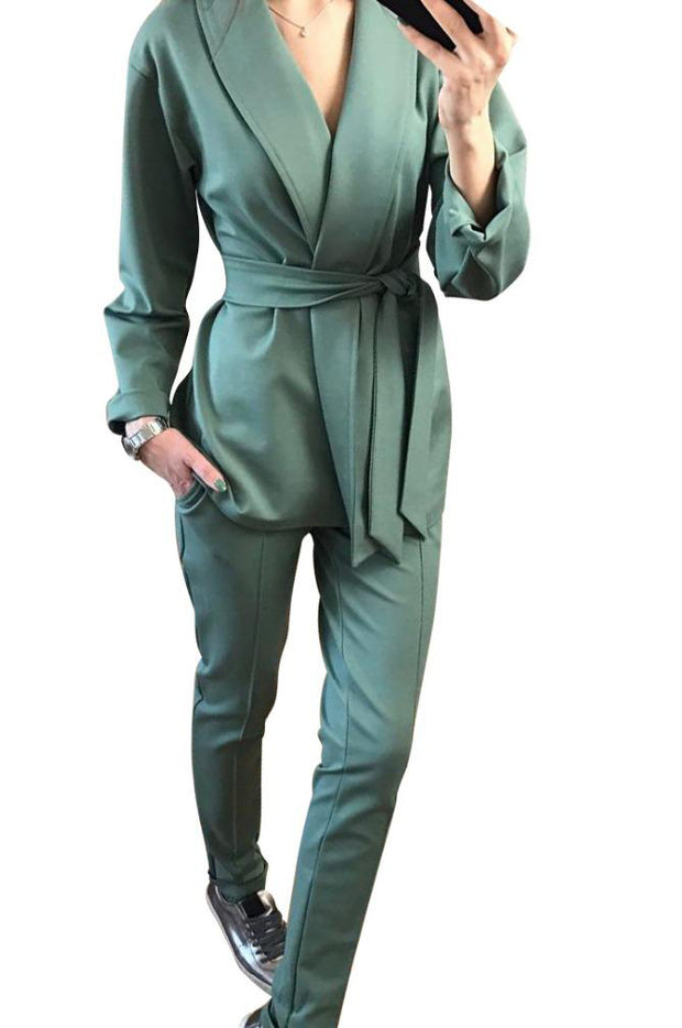 Elegant Pant Suit - MaestosoRosso_Fashion_Store