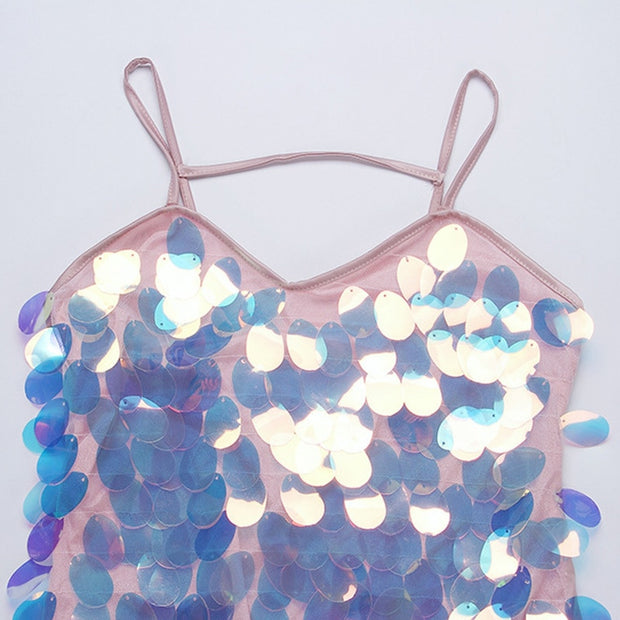 Large Sequin Pastel Gown - MaestosoRosso_Fashion_Store