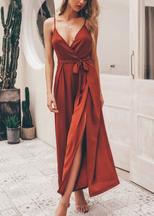 Loose Maxi Romper - MaestosoRosso_Fashion_Store