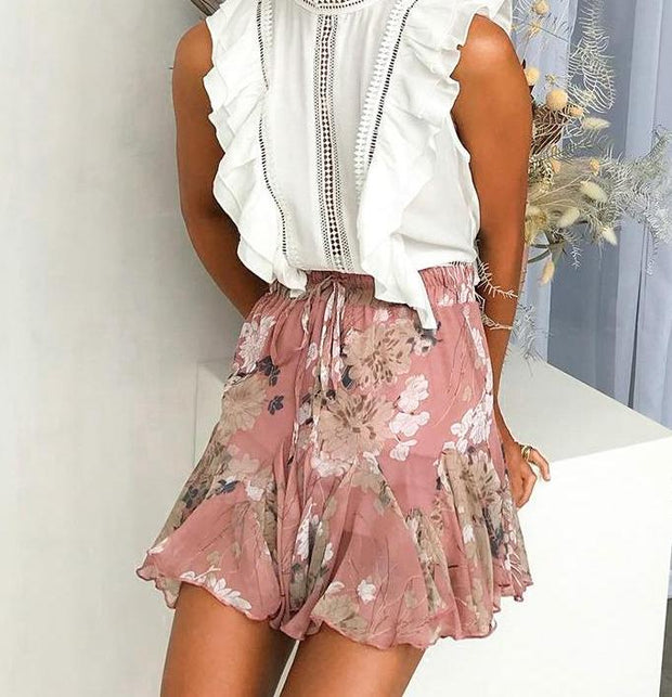 Floral Print Summer Skirt - MaestosoRosso_Fashion_Store