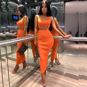 Two Piece Ribbed Set - MaestosoRosso_Fashion_Store