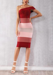 Red Gradient Bandage Dress - MaestosoRosso_Fashion_Store