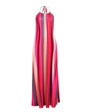 Vibrant Loose Maxi Dress - MaestosoRosso_Fashion_Store