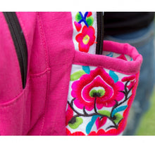 Load image into Gallery viewer, Pink Floral Backpack