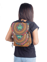 Load image into Gallery viewer, Embroidered Pattern Backpack