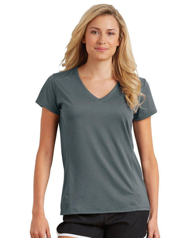 GILDAN 47V00L v neck TECHNICAL PERFORMANCE TEE - LADIES