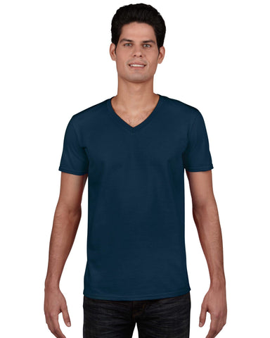 Gildan 64V00 Mens V-Neck T-Shirt
