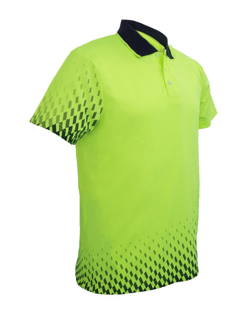 SP0703 Hi-Vis Gradient Workwear Polo