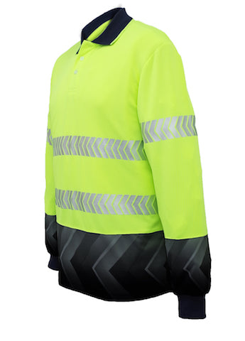 SP0724 Long Sleeved Hi Vis Polo Shirts