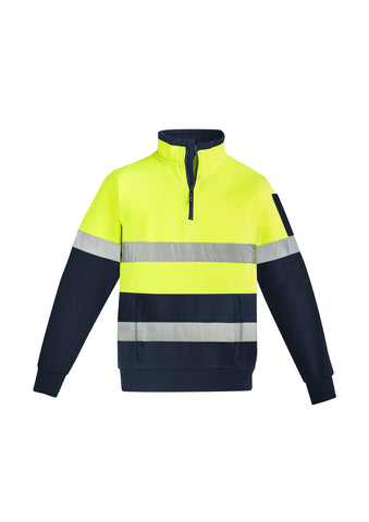 ZT566 Mens Hi-Vis 1/4 Zip Pullover Hoop Taped Jacket