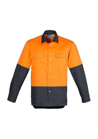 ZW122 Hi Vis Spliced Industrial Shirt
