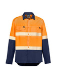ZW470 Syzmik Mens Hi Vis Outdoor Segmented Tape L/S Shirt