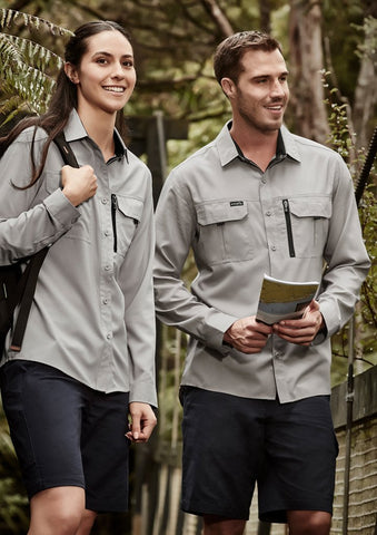 ZW760 Syzmik Womens Outdoor Long Sleeve Light Weight Work Shirt