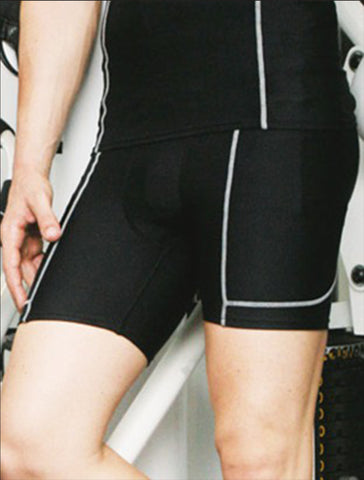 CK931 Performance Wear - Mens Cropped Bike Shorts