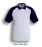 CP0360 Unisex Adults Three Tone Polo