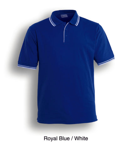 CP0422 Unisex Adults Double Striped Polo