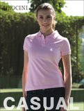 CP0756 Ladies Pique Knit Fitted Cotton / Spandex Polo