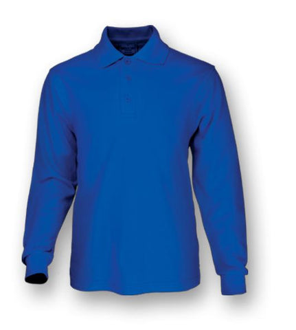 CP1604 Plain Colour Poly Face Cotton Backing L/S Polo