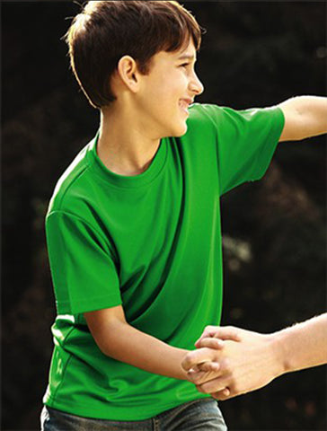CT1208 Kids Plain Breezeway Micromesh Tee Shirt