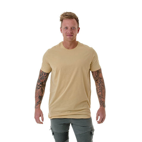 CB Men's Long Curved Tee