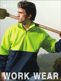 SJ0411 Unisex Adults Hi-Vis 1/2 Zip Fleece