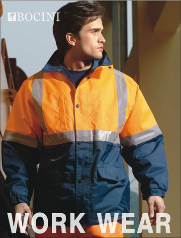 SJ0430 Unisex Adults Hi-Vis Polar Fleece Lined Jacket With Reflective Tape