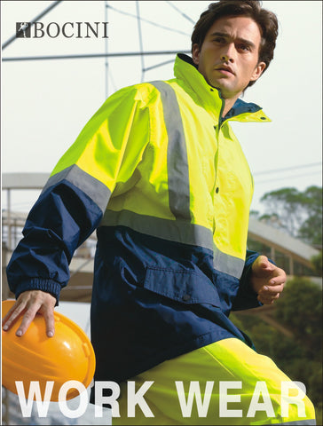 SJ0432 Unisex Adults Hi-Vis Mesh Lining Jacket With Reflective Tape