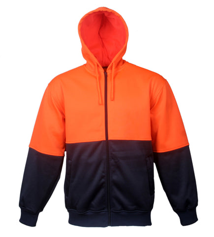 SJ1104 Unisex Adults Hi-Vis Full Zip Hoodie