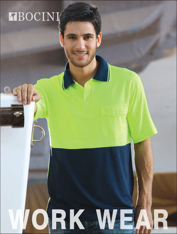 SP0427 Unisex Adults Hi-Vis Safety Polo - Short Sleeve