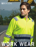 SP0537 Unisex Adults Hi-Vis Polyface / Cotton Back Polo With Reflective Tape
