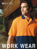 SP0538 Unisex Adults Hi-Vis Polyface / Cotton Back Polo - S/S