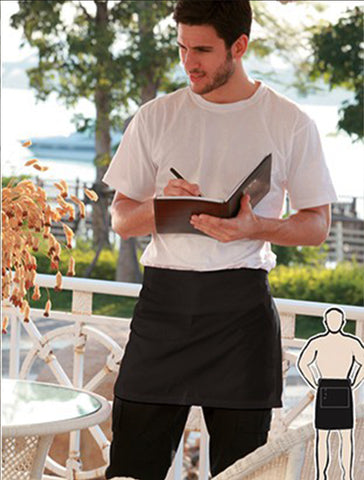 WA0388 Cotton Drill Quarter Apron-With Pocket