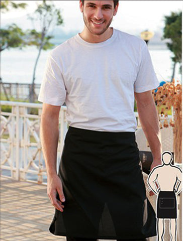WA0619 Cotton Drill Half Apron - With Pocket