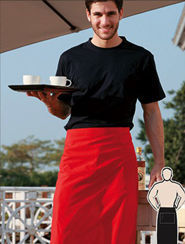 WA0630 Polyester Drill Three Quarter Apron - With Pocket