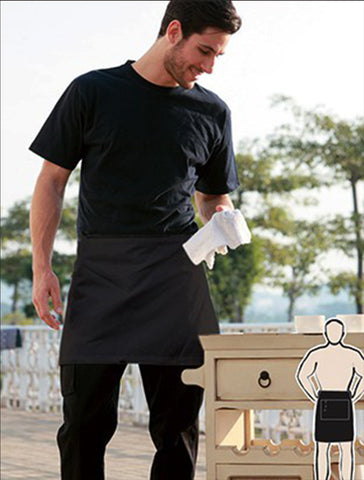 WA0672 Polyester Drill Quarter Apron - With Pocket